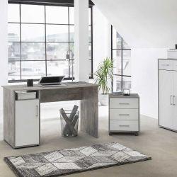 Bureau Maxi-office - béton/blanc