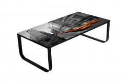 Table basse New York 105x55 métal & verre - noir