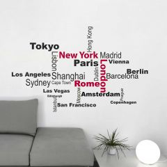 Sticker mural Cities