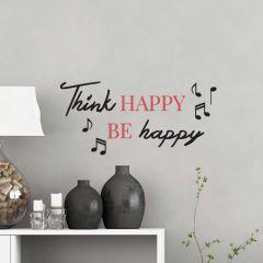 Sticker mural Think Happy