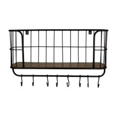 Porte-manteau Eran - bois manguier/fer