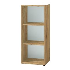 Bibliothèque basse Mouna 50cm - chêne/blanc