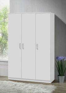 Armoire à vêtements Darcis 120cm à 3 portes - blanc