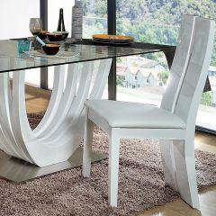 Lot de 2 chaises Ovar - blanc brillant