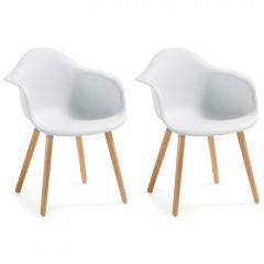 Lot de 2 chaises Kevya - blanc