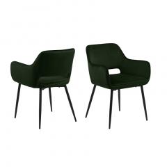 Jeu de 2 chaises Dani - vert olive