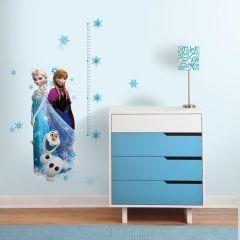 Stickers muraux XL Disney La Reine des Neiges avec toise