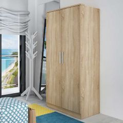 Armoire Ramos 80cm avec 2 portes - chêne