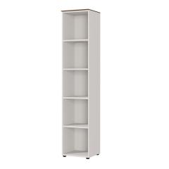 Bibliothèque Anaelle 40cm - blanc/noyer