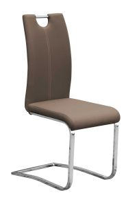 Lot de 2 chaises cantilever Sofia - brun