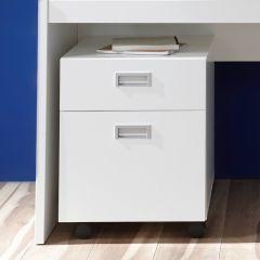 Caisson à tiroirs Arkea à 1 tiroir & 1 porte - blanc