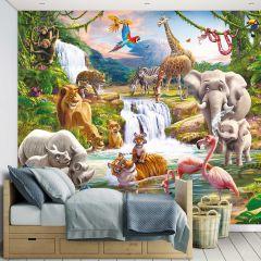 Papier peint enfant Safari adventure