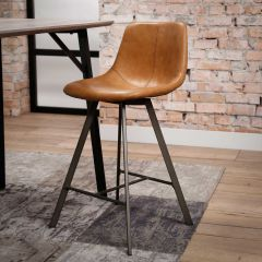Set de 4 chaises de bar Zigi - brun