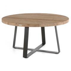 Table de jardin Margarite Ø160 - noir/teck