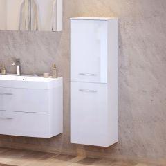 Colonne Florent 40cm avec 2 portes - blanc