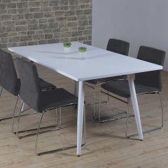 Table à manger Rinus 160cm - blanc