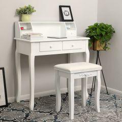 Coiffeuse/bureau Juline - blanc