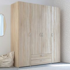 Armoire de rangement Salvador 4 portes & 2 tiroirs - chêne sonoma