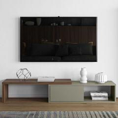 Meuble TV Movie 110cm - gris/noyer