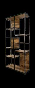 Armoire à compartiments ouverts Niveaux - bois de manguier / fer