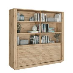 Bibliothèque Adrian - chêne artisan