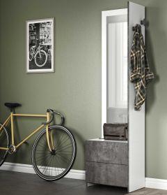 Vestiaire Hallway - blanc/béton