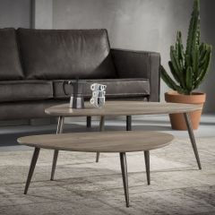 Lot de 2 tables basses Marit Medium