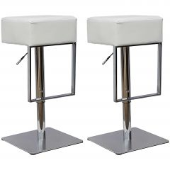 Jeu de 2 chaises de bar Global - blanc