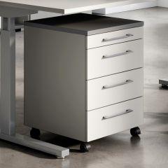 Caisson à tiroirs Presley - gris clair/graphite