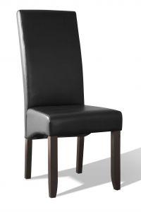 Lot de 2 chaises en similicuir Joan - anthracite