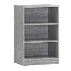 Bibliothèque Spacio 55cm à 2 tablettes - chêne gris