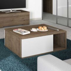 Table basse Verena 120x60 - brun/blanc