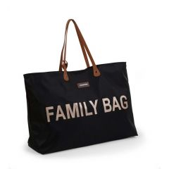 Sac à langer Family Bag - noir/or