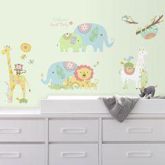 Stickers muraux Tribal Baby Animals