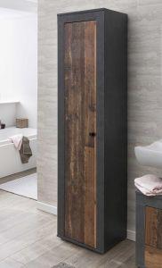 Colonne salle de bains Rutger 1 porte - bois/graphite