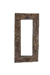 Miroir mural Root 240x140cm - teck/bois de racine
