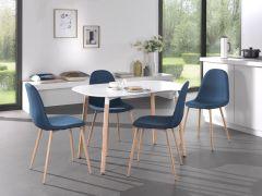 Table 'Evi' 140x80 Noir mat