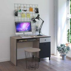 Bureau Nagara 110cm avec 1 tiroir & 1 porte - chêne noisette