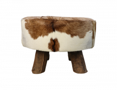 Tabouret Devi - ø60 cm - peau de chèvre