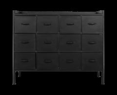 Bloc-tiroirs Harlem - métal - noir