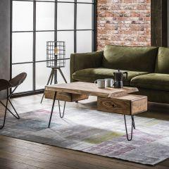 Table de salon edge - Massif acacia naturel