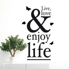Sticker mural Enjoy Life XXL