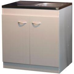 Armoire basse pour évier avec 2 portes (80 cm).