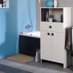 Armoire salle de bains Artem 59cm 2 portes & 1 tiroir - blanc