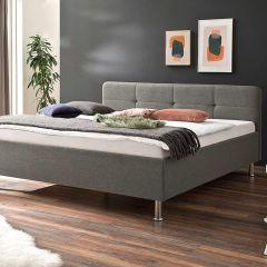 Lit Azis 180x200 avec pieds en métal - gris