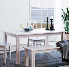 Table à manger 204 cm - blanc