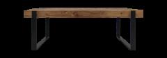 Table basse Norton - 130x60 cm - teck / fer recyclé