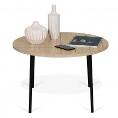 Table basse Ply Ø70cm - chêne