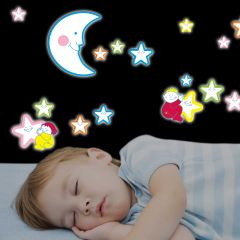 Stickers muraux 3D phosphorescents Smiling Stars