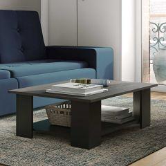 Table basse Square 67x89 - noir/béton
